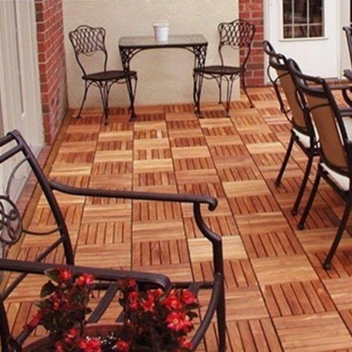 wood deck tiles ebay