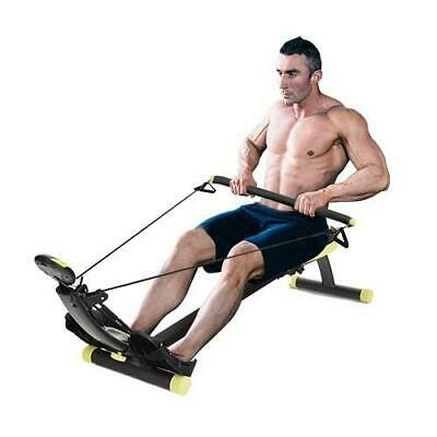 New Rower Max Pro Cardio Compact Home Gym Rowing Machine Cardio Fitness Exercise, used for sale  Shipping to Nigeria