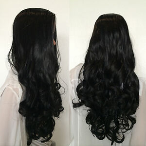 UK Seller Ladies 3/4 Wig Fall Clip In Hair Piece Half Wig Fall party cosplay GY