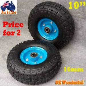 """2pcs Solid Tyre Wheels Wheelbarrow 10""""x3.5""""x4"""" Puncture Proof Epping Whittlesea Area Preview"""