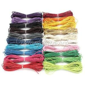 10m 1 5mm Waxed Coated Wax Cotton Cord String Linen