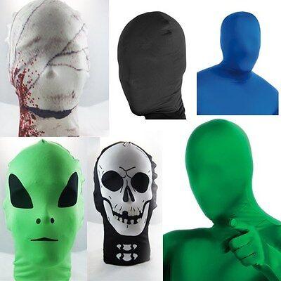 Lycra Spandex Zentai Costume Halloween Party Mask/Hood Open Face/Eyes/Full - Costume Eyes