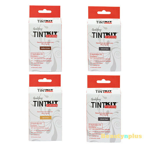 Godefroy Tint Kit Eyebrow Facial Hair Color 4 Application kit 4 Colors
