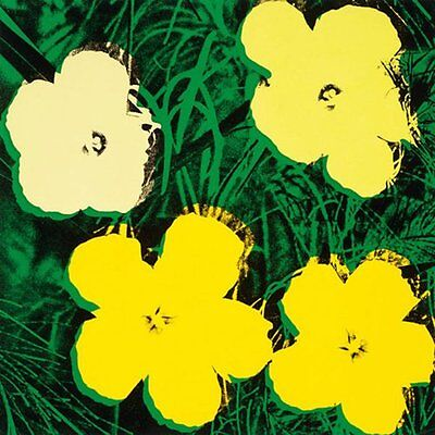 Flowers  C 1964  4 Yellow  By Andy Warhol Art Print Poster Floral Flower 23X23