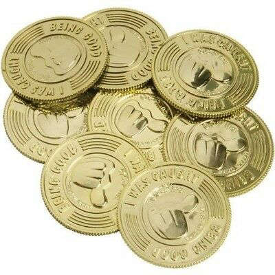 144 Gold I Was Caught Being Good Reward Coins Teachers Class Room Behavior