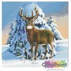 Crystal Art kit Winter Stag 30 x 30 cm