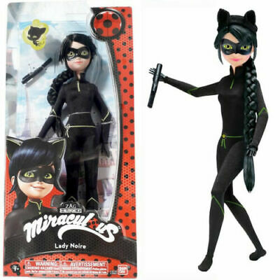 "100/% Bandai MIRACULOUS NEW CAT NOIR Fashion Doll 10.5 /"" CASE FRESH 9.8//10"