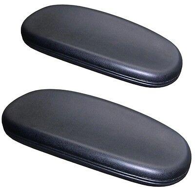 Office Chair Arm Pads Soft Durable Armrest Cushion Replacement 2 Pcs Set - Black