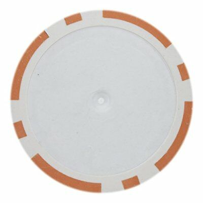 - 8 Stripe Non-Denominated 14g Poker Chips, Orange Clay Composite, 50-pack