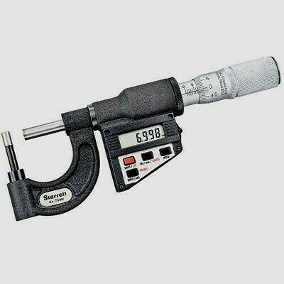 Starrett 769axfl Electronic Tube Micrometer 0-10-25mm Range .000050.001mm