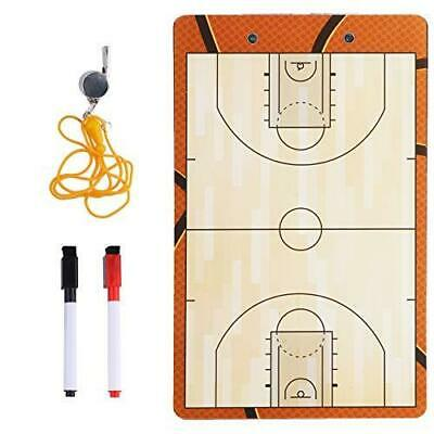 Basketball Coaches Dry Erase Clipboard – Double Sided Lineup Board Bundled with
