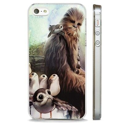 Chewbacca Porgs Star Wars Last Jedi CLEAR PHONE CASE COVER fits iPHONE 5 6 7 8 X