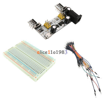Mini Breadboard 400 Mb102 Power Supply Module Solderless 65pcs Jump Cable Wires