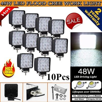 new 10x48W Cree LED WORK LIGHT BAR FLOOD BEAM LAMP OFFROAD TRACTOR TRUCK 12V SUV