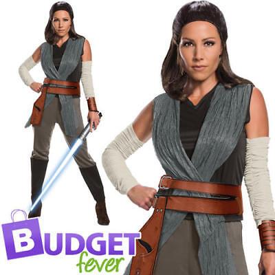 The Last Jedi Rey Ladies Fancy Dress Disney Star Wars Womens Adults Costume (Womens Jedi Kostüme)