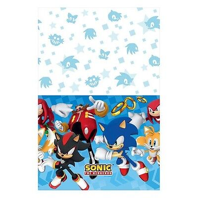 SONIC THE HEDGEHOG PLASTIC TABLE COVER ~ Birthday Party Supplies Decoration SEGA - Sonic The Hedgehog Party Decorations