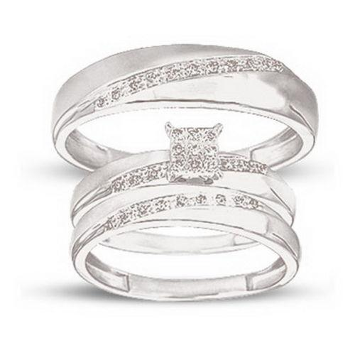 his and hers wedding rings white gold ebay