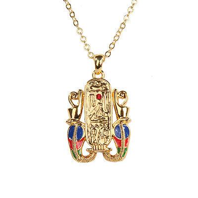 Egyptian Cartouche Hieroglyph Necklace Pendant. Ancient Egypt Fashion Jewelry