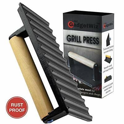 Enameled Bacon Press- Anti Rust Cast Iron Grill Press- Meat Press- Burger Press-