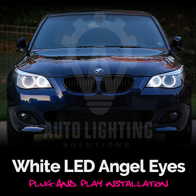 For BMW 5 Series Pre LCI E60 E61 White Angel Eye Halo Ring LED Light Bulb *SALE*](Angel Halos For Sale)