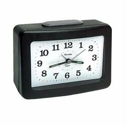 Westclox 47550 Loud Bell Quartz Alarm Clock, C Battery, Black