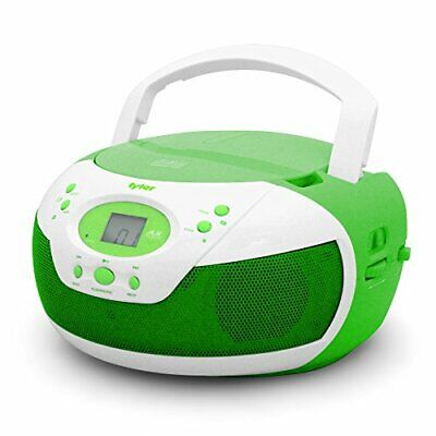 Tyler Portable Neon Green Stereo CD Player with AM/FM Radio