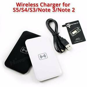 AUS QI Wireless Charger Charging Pad + Receiver For Samsung Alexander Heights Wanneroo Area Preview