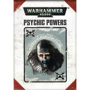 Warhammer 40K : Psychic powers cards (7th)