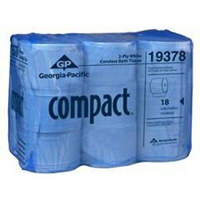 Georgia Pacific Compact-Coreless High Capacity 2-Ply Bathroom Tissue - 18 Rolls
