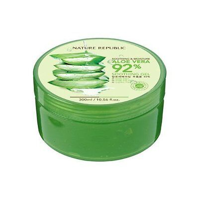 Nature Republic New Soothing Moisture Aloe Vera GEL 92% 300ml Korean Cosmetics