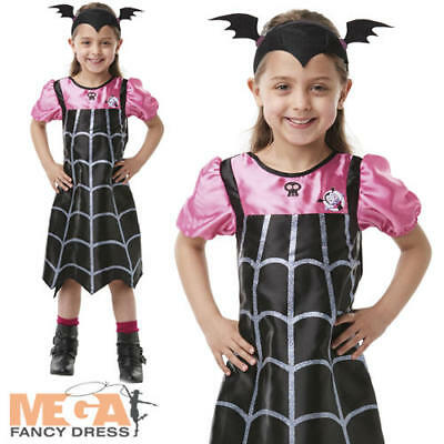 Vampirina Girls Fancy Dress Vampire Kids Halloween Costume Disney Cartoon Outfit ()