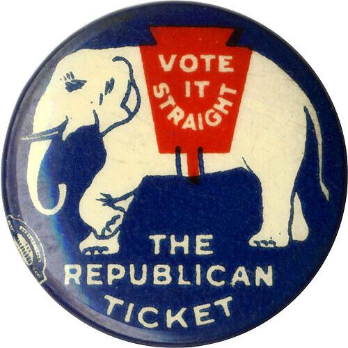 1924 Republican Party VOTE IT STRAIGHT Celluloid Button ~ Calvin Coolidge (6728)