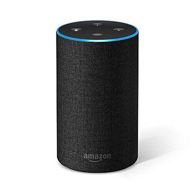 AMAZON Echo 2. Generation Anthrazit schwarz, kompatibel mit Amazon Alexa NEU