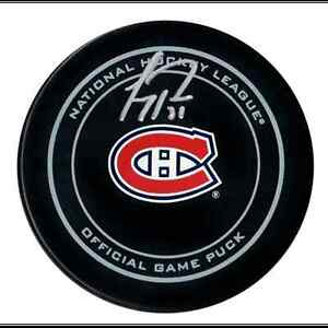 Carey Price Signed Hockey Puck Montreal Canadiens Game Model