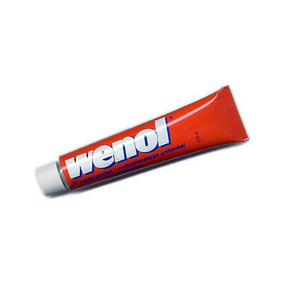 Red Wenol Metal Polish Cleaner  (50 grams Tube) / Gold,Silver,Brass,Copper,etc.