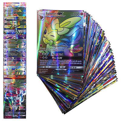 GX20+EX80 New 2017 Pokemon Cards 100 FLASH CARD LOT NO REPEA