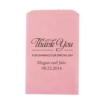 50 Thank You For Sharing Our Special Day Personalized Flat Wedding Favor Bags](Thank You For Sharing Our Special Day)