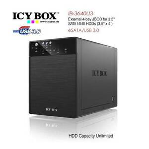 NAS 4 Bay SATA HDD ICY BOX IB-3640SU3 JBOD system Gungahlin Gungahlin Area Preview