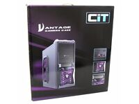 CiT Vantage Mesh Gaming Case & Corsair ATX PC power supply CX430M - 430 Watt semi modular psu