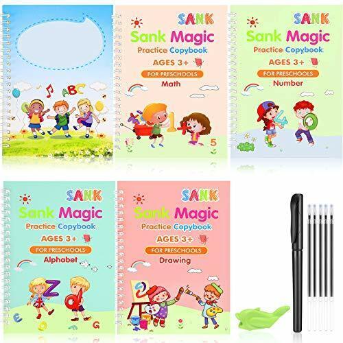English Practice Copybook Sank Magic Set of 12Pcs Including Handwriting Pen Kids