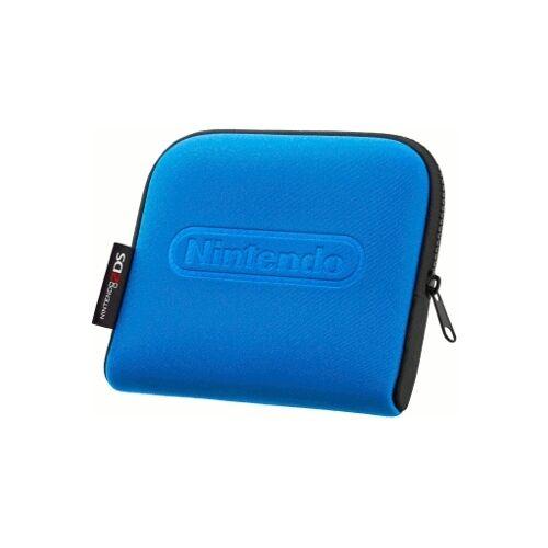 Nintendo 2DS Tasche schwarz blau Hardware neopren Reissverschluss Innentasche