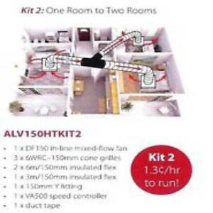 Heat Transfer -One room to two rooms ALV150HT Allvent Axial Erina Gosford Area Preview