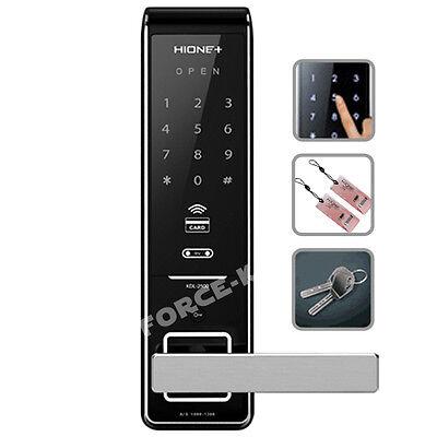 HIONE Digital Keyless Lock H-2500SK Doorlock Passcode+RFID+Mechanical Keys 3Way