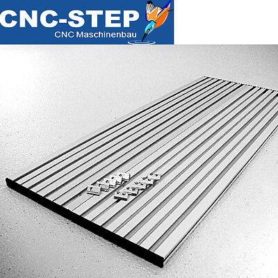 T-NUTENPLATTE Nutentisch 790x320mm ALU Frästisch für CNC Fräse Fräsmaschine