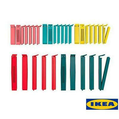 60 x IKEA Bevara Food bag Storage Clips Freezer Bag Sealing Clips