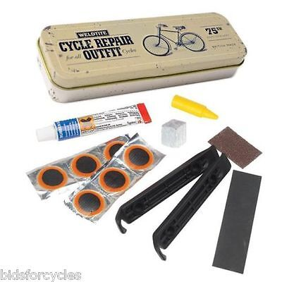 WELDTITE RETRO VINTAGE BICYCLE CYCLE BIKE INNER TUBE TYRE PUNCTURE REPAIR KIT
