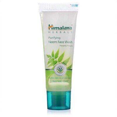 2x Himalaya Herbals Purifying Neem Face Wash Gel Pimples 15ml