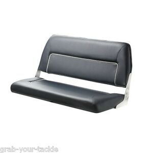 Boat Seat Bench Seat Deluxe Folding Seat 2 Person Marine Blue White Trim Ebay