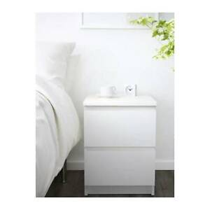 IKEA Malm chest of drawers bedside table