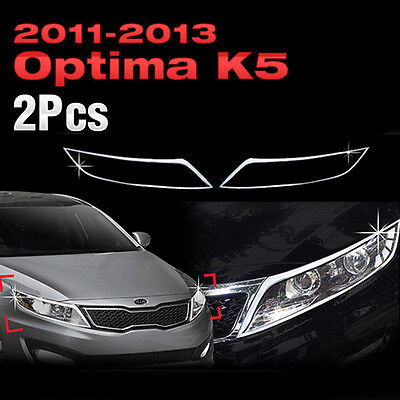 Chrome Head Lamp Cover Molding Trim B687 For KIA 2011-2013 Optima / K5